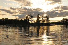 Lake in Finland Royalty Free Stock Images