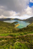 Lake of Fire Lagoa do Fogo in the crater of the volcano Pico d Stock Photos
