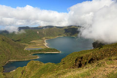 Lake in Azores. Portugal stock image