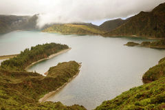 Lake of Fire in Sao Miguel Island - Azores Stock Photos