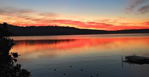 Lake on fire royalty free stock photo