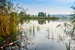 Lake for fishing Royalty Free Stock Photography