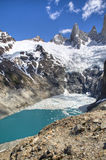 Lake at Fitz Roy, Argentina. Lake at the Fitz Roy mountain in El Chalten, Argentina Stock Image