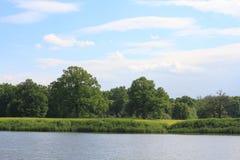 Lake in a floodplain Royalty Free Stock Image