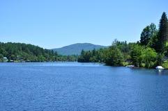 Lake Flower in Saranac Lake, New York Royalty Free Stock Photography