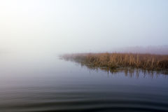 Lake in fog Royalty Free Stock Photography