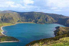 Lake Fogo, Sao Miguel Island, Azores, Portugal. Royalty Free Stock Images