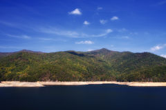 Lake Fontana. In the NC Mountains in Autumn royalty free stock image