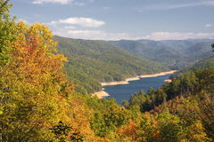 Lake Fontana. In the NC Mountains in Autumn stock photography