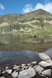 Lake of Fontargente in Pyrenees Stock Photo