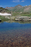 Lake Forcola - Alpine Lake near Forcola Pass  - Livigno, Italy. Stock Photos