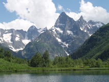 Lake Forele a file of Chotcha. Mountains of the North Caucasus Royalty Free Stock Images