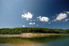 Lake and forest. Lake Seliste, middle Serbia, Europe Stock Photography