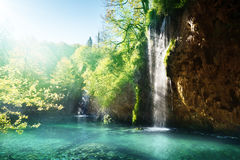 Lake in forest, Croatia Royalty Free Stock Photography