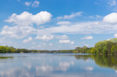 Lake with forest Stock Photography