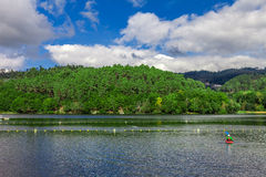 Lake and forest in Minho, Portugal Stock Photos