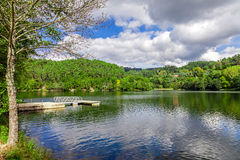 Lake and forest in Minho, Portugal Stock Image
