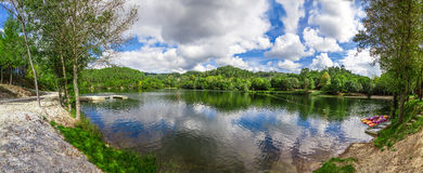 Lake and forest in Minho, Portugal Stock Photo