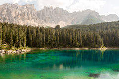 Lake, forest  and mountains Stock Photos