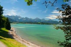 Lake Forggensee near the city Waltenhofen Stock Images