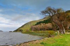 Lake Forsyth near Banks Peninsula in Canterbury Royalty Free Stock Photos