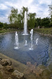 Lake with fountain Stock Photography