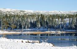 Lake freezing over Stock Photos
