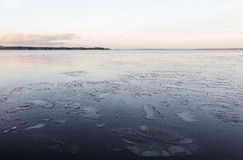 Lake freezing up Royalty Free Stock Photography