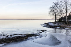 Lake freezing up Stock Photography