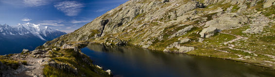 Lake in the French Alps Stock Images