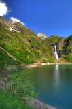 Lake in French two. A lake in the French Pyrenees (Oo Royalty Free Stock Image