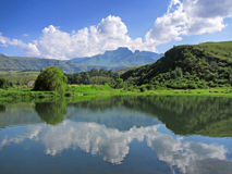 Lake in front of Cathkin peak Stock Images
