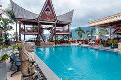 Lake Front Five Star Villa in Samosir Island Stock Photography