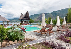 Lake Front Five Star Villa in Samosir Island Stock Photos