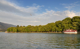 Lake-front of Ioannina city, Epirus, Greece Stock Photography
