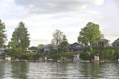 Lake front properties and lake Oregon. Stock Photography