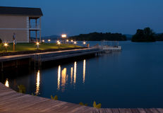 Lake front property. And water Royalty Free Stock Photos