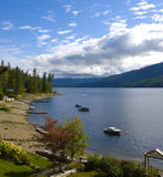 Lake Front Property at Shuswap Lake Stock Images