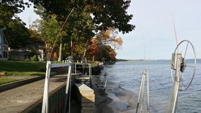 Lake front view from our cottage Royalty Free Stock Images