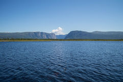 Lake in Front of Western Brook Pond in Gros Morne National Park in Newfoundland Stock Photos
