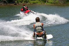 Lake Fun. Teenage boys enjoying time on the lake Royalty Free Stock Photos