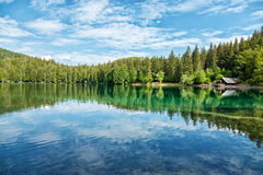 Lake Fusine in the Italian Alps Stock Image