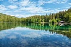 Lake Fusine in the Italian Alps Stock Image