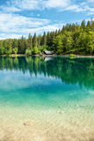 Lake Fusine in the Italian Alps Royalty Free Stock Photo