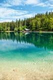 Lake Fusine in the Italian Alps Royalty Free Stock Photo