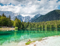 Lake Fusine in the Italian Alps Royalty Free Stock Photography