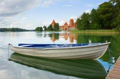 Lake Galve, Lithuania stock photo