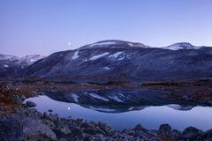Lake at Gamle Strynefjellsvegen, National tourist road, Norway Royalty Free Stock Image
