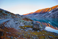 Lake at Gamle Strynefjellsvegen, National tourist road, Norway Stock Photos