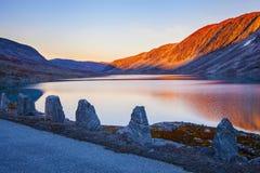 Lake at Gamle Strynefjellsvegen, National tourist road, Norway Stock Photo